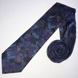 Ted Baker 100% Silk Blue Purple Paisley Tie